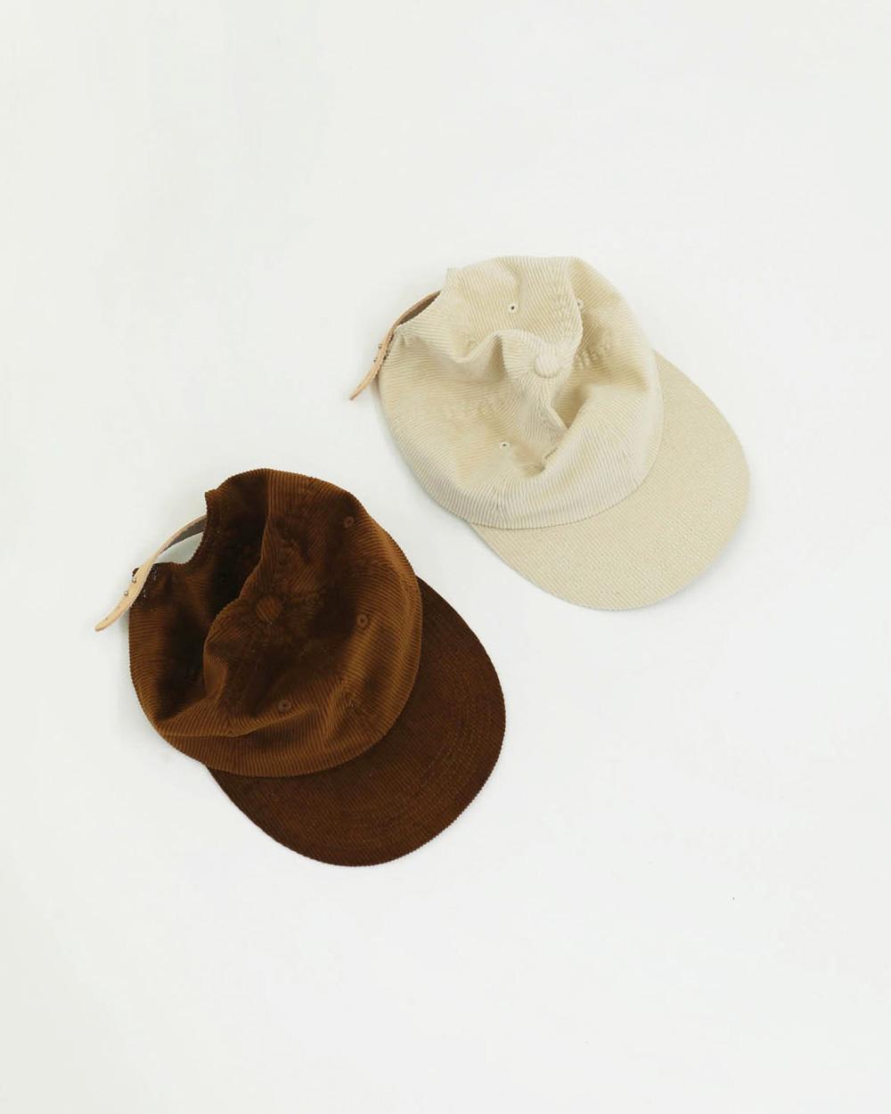 Corduroy x Leather Cap