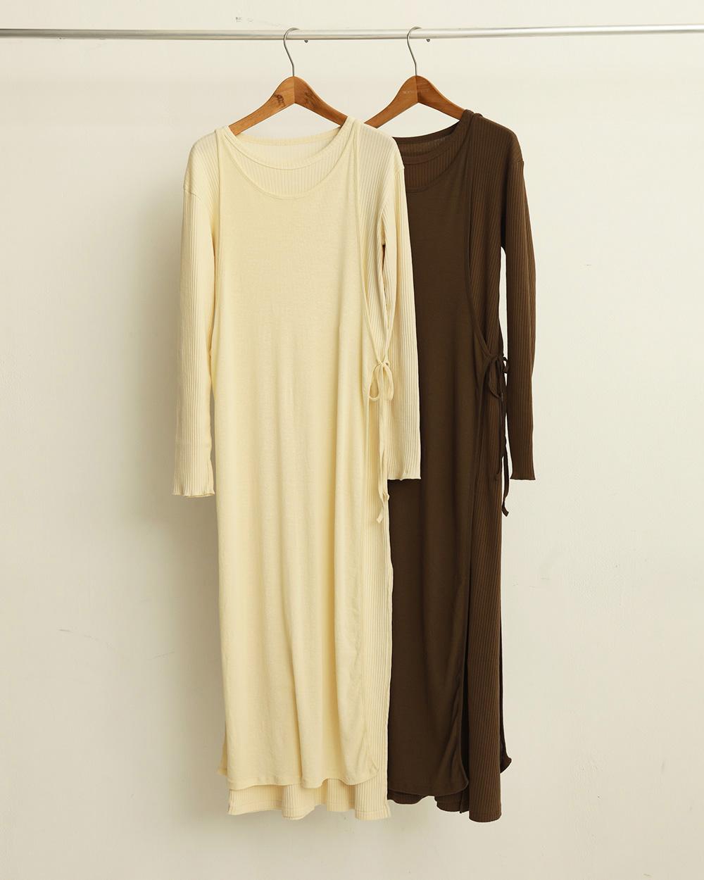 Cottonrib Layered Dress