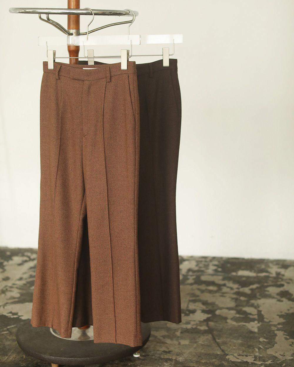 Tweed Cropped Pants