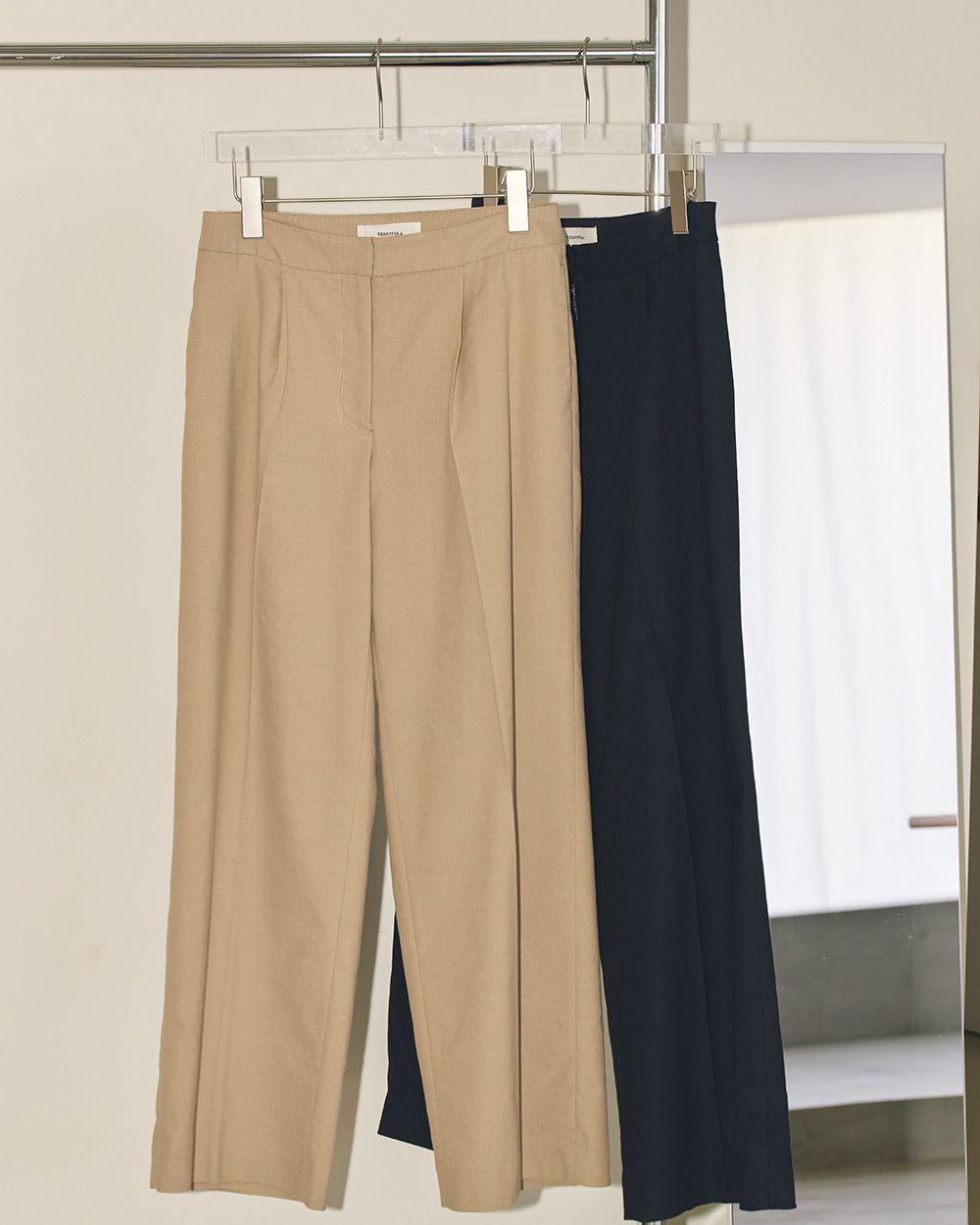 Dobby Linen Trousers