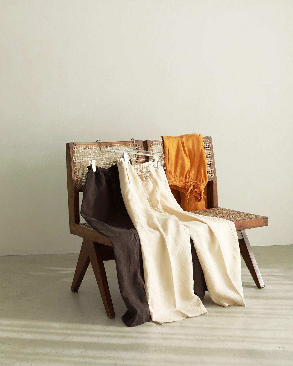 Linen Gather Pants