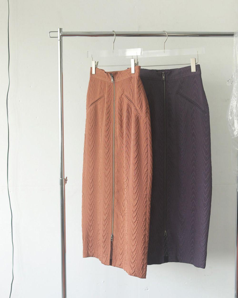 Jacquard Zip Skirt
