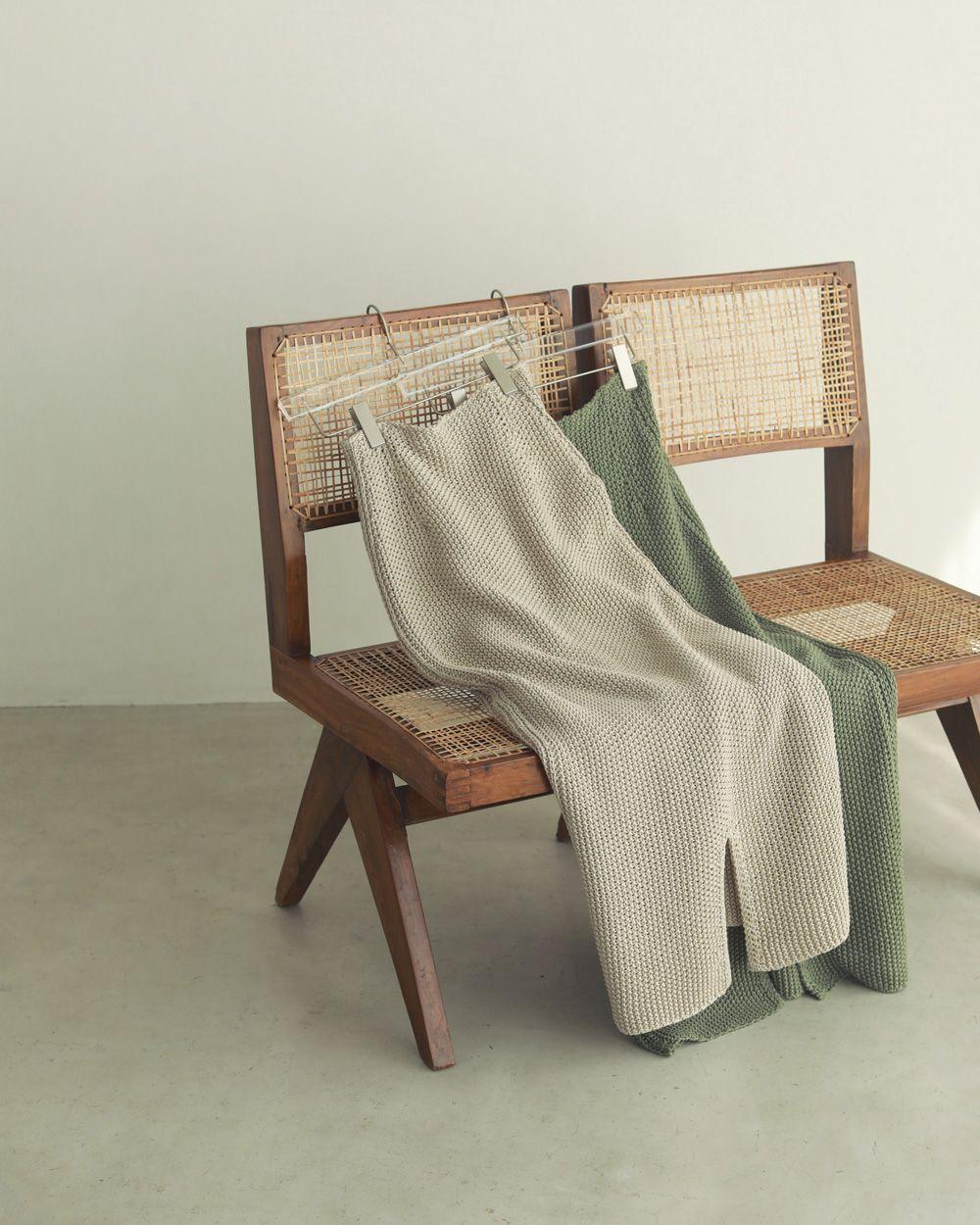 Line Knit Skirt