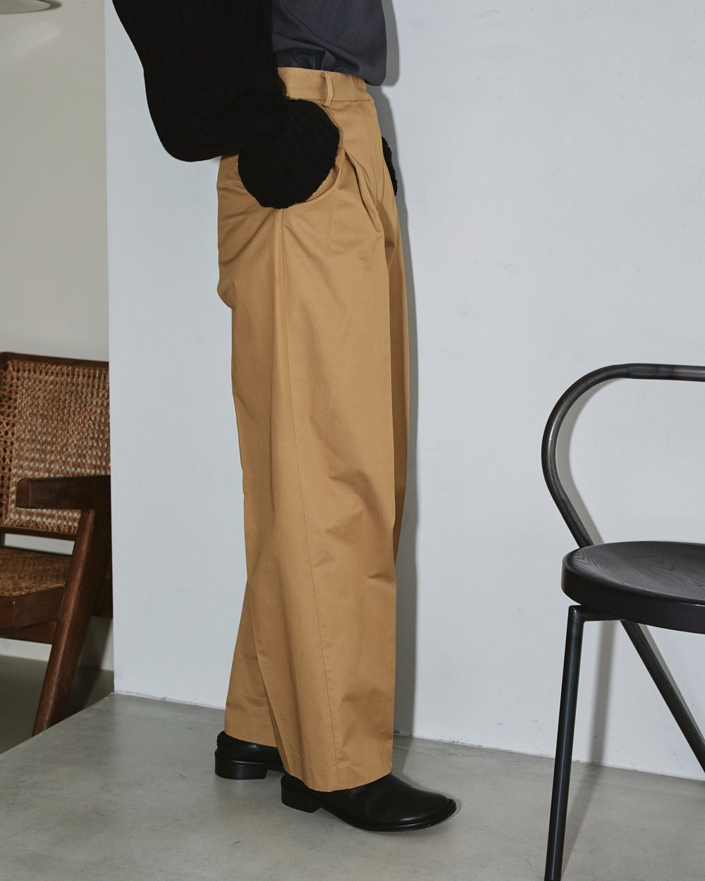 Tuck Twill Trousers