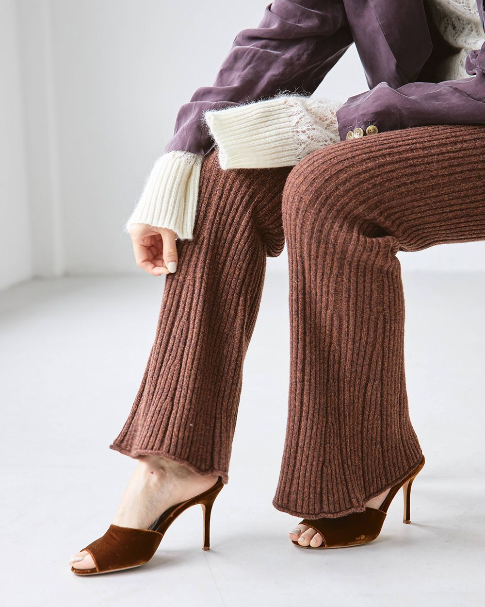 Randomrib Knit Pants